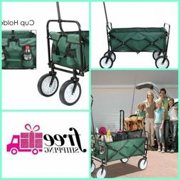 Folding Wagon Heavy Duty Yard Garden Cart Foldable Collapsib