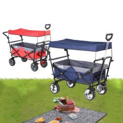 folding wagon w canopy garden utility travel