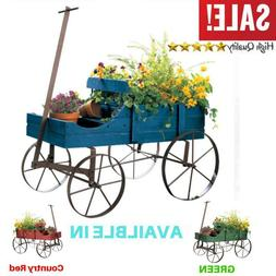 Garden Amish Wheeled Wagon Decorative Indoor/Outdoor Backyar