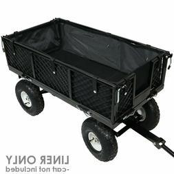 Garden Cart Wheelbarrow Wagon Poly Pull Dump Utility Liner B