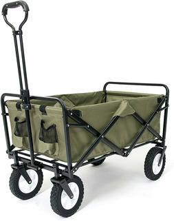 Garden Carts Collapsible Folding Outdoor Utility Wagon Cart