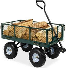 Garden Carts Yard Dump Wagon Cart Lawn Utility Cart Outdoor