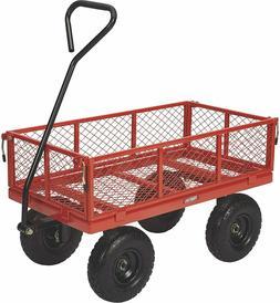 Garden Carts Yard Dump Wagon Steel Utility Cart Outdoor Stee