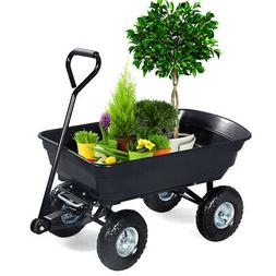 660LBS Garden Dump Cart Dumper Wagon Carrier Wheel Barrow Ai