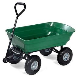 650LB Garden Dump Cart Dumper Wagon Carrier Wheel Barrow Air