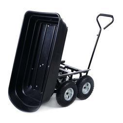 Garden Dump Cart Heavy Duty Wagon Carrier Yard Dumper Utilit