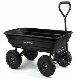 Garden Poly Dump Cart Pulling Wagon 600 Pound Yard Tools Lan