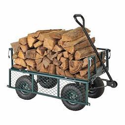 Garden Utility Cart Yard Wagon Steel Mesh Crate Durable Fold