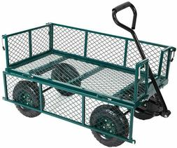 VILOBOS Garden Utility Heavy Duty Lawn Outdoor Carts Wagons