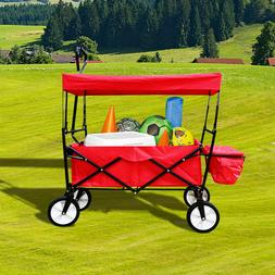 Garden Wagon Cart Carriage Collapsible Folding High Capacity