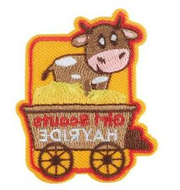 GIRL SCOUT HAYRIDE Fall Wagon Fun Patches Crests Badges GUID