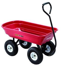 Gorilla Cart GOR100-14 Poly Garden Cart with Curved Handle,