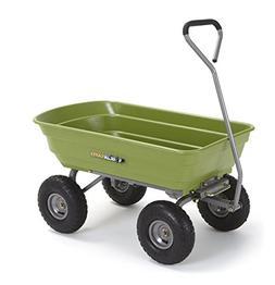 Gorilla Carts GOR4G-COM Poly Garden Dump Cart with Steel Fra