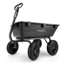Gorilla Carts GOR6PS Heavy-Duty Poly Yard Dump Cart with 2-I