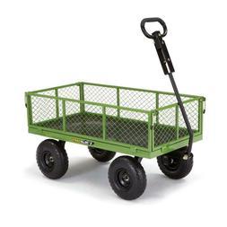 Gorilla Carts GOR801 800 lb. Steel Utility Garden Cart Wagon
