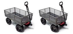 Gorilla Carts GORMP-12 Steel Dump Cart with Removable Sides