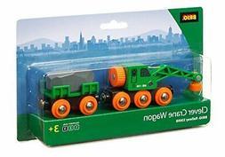 Brio Green Crane Wagon 33698