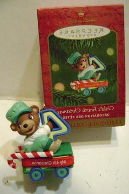 Hallmark~ BABY'S FOURTH CHRISTMAS  Boy/Girl Ornament 2001 NE
