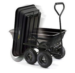 Heavy Duty Gorilla Cart Dump Wagon Wheelbarrow Garden Yard L