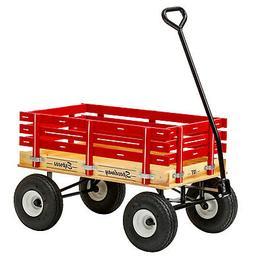 "HEAVY DUTY CHILDREN'S WAGON - 10"" Tires 800lb Capacity RED G"