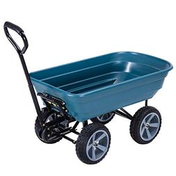 Giantex Heavy-Duty Garden Dump Cart Dumper Wagon Carrier Whe