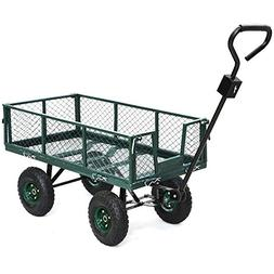 Yaheetech Heavy Duty Garden/Lawn Utility Cart/Wagon with Rem