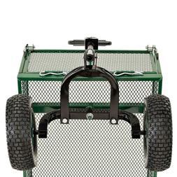"Heavy Duty Jumbo Steel Crate Wagon 48""X 24"" Sandusky Easy Lo"