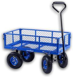 Heavy Duty Lawn/Garden Utility Cart/Wagon With Removable Sid