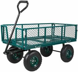 Heavy Duty Steel Cart with Removable Folding Sides 550 lbs.