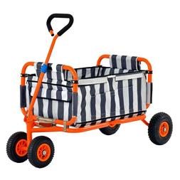Heavy Duty Steel Folding Transport Wagon by Sandusky