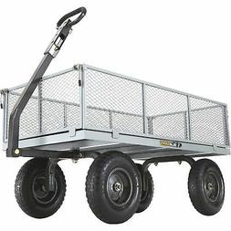 Gorilla Carts Heavy-Duty Steel Utility Cart with Removable S