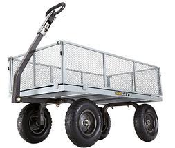 Heavy-Duty Steel Utility Gorilla Carts Home Garden Outdoor N
