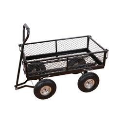 Heavy Duty Steel Wagon Cart Outdoor Large Garden supplies Lo