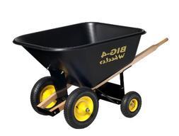 Big 4 Wheeler Heavy Duty Wheelbarrow, 10 Cubic Feet