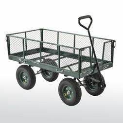 New Large Heavy-Duty Jumbo Green Wagon Crate Portable Storag
