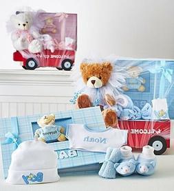 Hello Baby! Boy or Girl Wagon, Bear & Book, Infant Newborn G