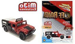 Johnny Lightning Hummer H1 Wagon Custom Baja Off Road Red MI
