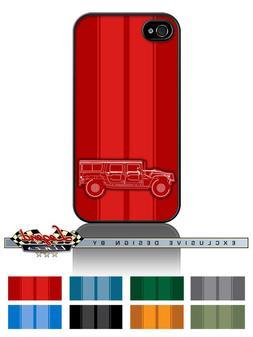 hummer humvee h1 station wagon stripes phone