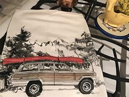 Jeep Grand Wagoneer Canoe Flour Sack Tea Towel