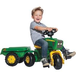Rolly Toys John Deere 3 Wheel Pedal Tractor with Trailer