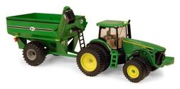 Ertl John Deere 8320R Tractor With J & M Grain Cart, 1:64 Sc