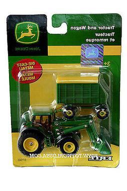 Ertl John Deere Tractor and Wagon Green & Yellow