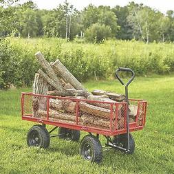 Jumbo Steel Garden Wagon- 1400-Lb. Capacity