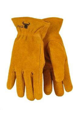 G & F 5013L JustForKids Kids Genuine Leather Work Gloves, Ki