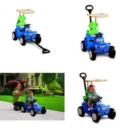 Kids 2-In-1 Ride On Car And Stroller Wagon Push Or Pull Toy