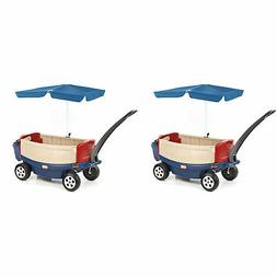 Little Tikes Kids Deluxe Ride and Relax Toy Wagon w/ Umbrell