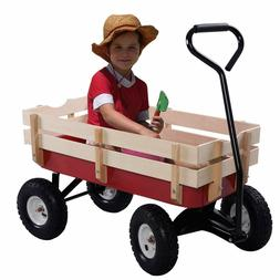 Kids Pulling Play Cart Full Size All Terrain Steel Wood Wago