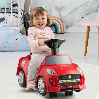 3 Kids Ride On Push Car Stroller Handle Horn Music