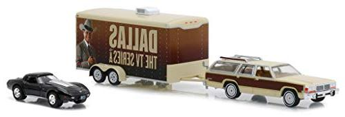 1979 Squire Chevrolet & Enclosed Car Hauler Dallas Series 1/64 by Greenlight C