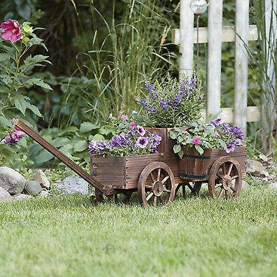2-Tiered Wooden Flower Wheels